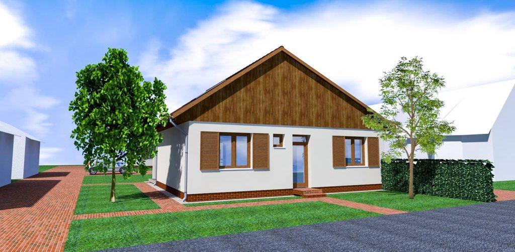 A domaszéki ház látványterve